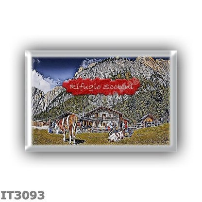 IT3093 Europe - Italy - Dolomites - Group Fanes-Braies - alpine hut Scotoni - locality Armentarola - seats 20 - altitude meters