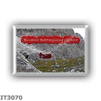 IT3070 Europe - Italy - Dolomites - Group Dolomiti di Sesto - alpine hut Bivacco Battaglione Cadore - locality Ciadin de Stalata