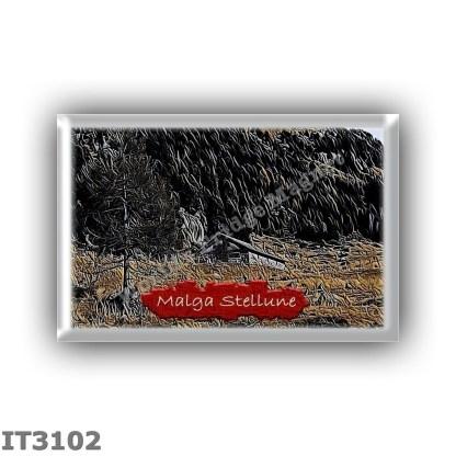 IT3102 Europe - Italy - Dolomites - Group Lagorai - alpine hut Malga Stellune - locality Val delle Stue - seats 0 - altitude met
