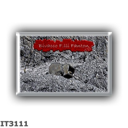 IT3111 Europe - Italy - Dolomites - Group Marmarole - alpine hut Bivacco F lli Fanton - locality Alta Val Baion - seats 9 - alti