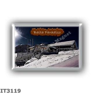 IT3119 Europe - Italy - Dolomites - Group Marmolada - alpine hut Baita Paradiso - locality Passo di San Pellegrino - seats 0 - a