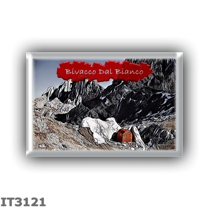 IT3121 Europe - Italy - Dolomites - Group Marmolada - alpine hut Bivacco Dal Bianco - locality Passo Ombretta - seats 6 - altitu
