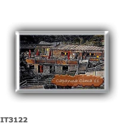 IT3122 Europe - Italy - Dolomites - Group Marmolada - alpine hut Capanna Cima 11 - locality Passo Fedaia - seats 12 - altitude m