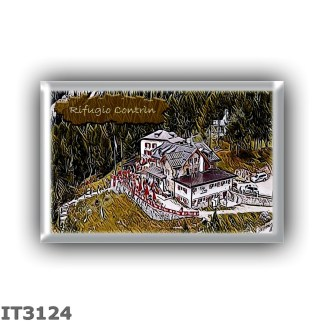 IT3124 Europe - Italy - Dolomites - Group Marmolada - alpine hut Contrin - locality Val Contrin - seats 112 - altitude meters 20