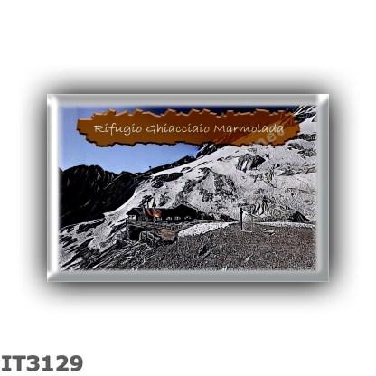 IT3129 Europe - Italy - Dolomites - Group Marmolada - alpine hut Ghiacciaio Marmolada - locality Pian dei Fiacconi - seats 6 - a