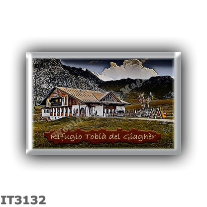 IT3132 Europe - Italy - Dolomites - Group Marmolada - alpine hut Tobia del Giagher - locality Ciampac - seats 15 - altitude mete