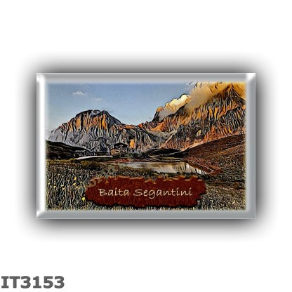 IT3153 Europe - Italy - Dolomites - Group Pale di San Martino - alpine hut Baita Segantini - locality Passo Rolle - seats 2 - al