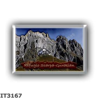 IT3167 Europe - Italy - Dolomites - Group Pale di San Martino - alpine hut Scarpa-Gurekian - locality Malga Losch del monte Agne