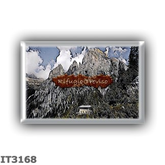 IT3168 Europe - Italy - Dolomites - Group Pale di San Martino - alpine hut Treviso - locality Val Canali - seats 39 - altitude m