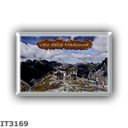 IT3169 Europe - Italy - Dolomites - Group Pale di San Martino - alpine hut Velo della Madonna - locality Avancorpo cima della Ma