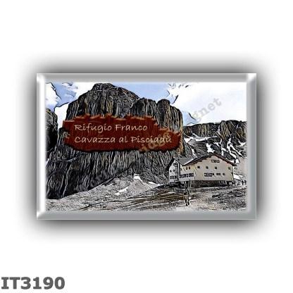 IT3190 Europe - Italy - Dolomites - Group Sella - alpine hut Cavazza al Pisciadu - locality Lago di Pisciadu - seats 76 - altitu