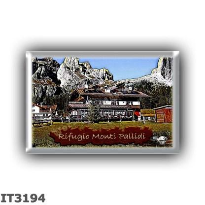 IT3194 Europe - Italy - Dolomites - Group Sella - alpine hut Monti Pallidi - locality Pian Schiavaneis - seats 23 - altitude met