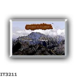 IT3211 Europe - Italy - Dolomites - monte Civetta group from Piz Boe