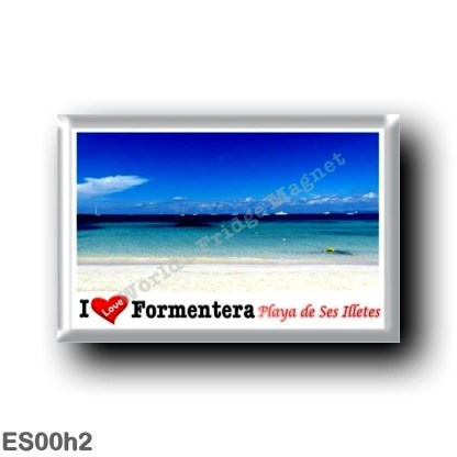 ES00h2 Europe - Spain - Balearic Islands - Formentera - Playa de Ses Illetes - I Love