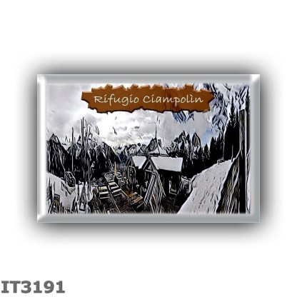 IT3191 Europe - Italy - Dolomites - Group Sella - alpine hut Ciampolin - locality Pécol - seats 10 - altitude meters 2040