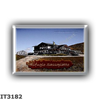 IT3182 Europe - Italy - Dolomites - Group Sassolungo - alpine hut Sassopiatto - locality Giogo di Fassa - seats 50 - altitude me