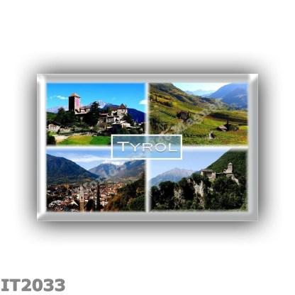 IT2033 Europe - Italy - TrentIno Alto Adige - Tyrol - Tyrol Castle - Vineyards in Bolzan - Meran - Panorama