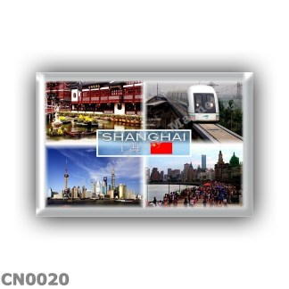 CN0020 Asia - China - Shangai - Yu Garden - Maglev Train Transrapid - Pudong - The Bund