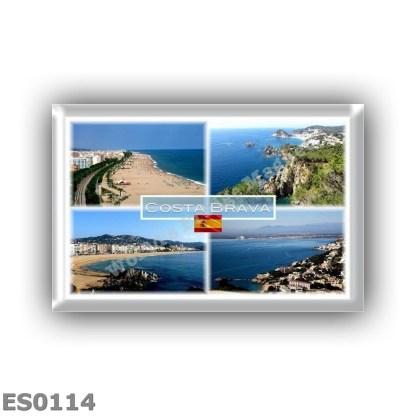 ES0114 Europe - Spain - Costa Brava - Calella Beach -Tossa de Mar - Lloret de Mar - Golfo de Rosas