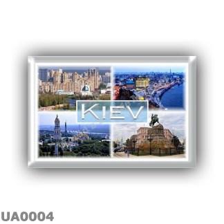 UA0004 - Europe - Ukraine - Kiev - Skyline - Coast view - Panorama - Skyline - Bohdan Khmelnytskyi Statue