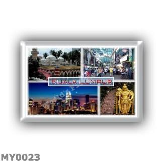 MY0023 - Asia - Malaysia - Kuala Lumpur - Jamek Mosque - Petaling Street Shops - Kuala Night Skyline - Petronas Twin Towers - Ba