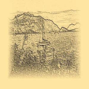 Lake Como - drawing