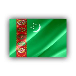 Turkmenistan - flaf