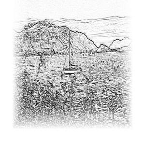 Lake Como - drawing