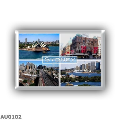 AU0102 Oceania - Australia - Sydney - Hopera House - Queen Victoria Building - Cahill Expressway - Cityscape -