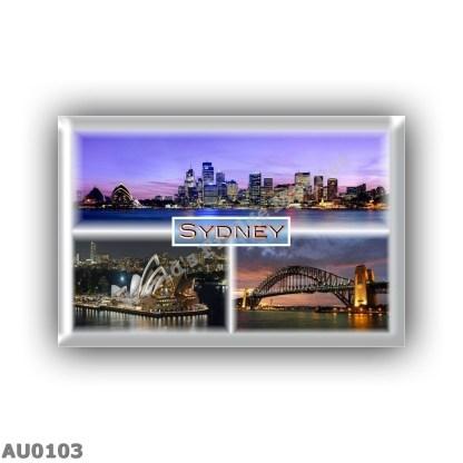 AU0103 Oceania - Australia - Sydney by Night - Sidney view - Opera House - Harbour Bridge