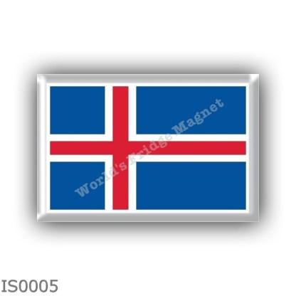 IS0005 Europe - Iceland - flag