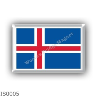 IS0005 Europe - Iceland - flag
