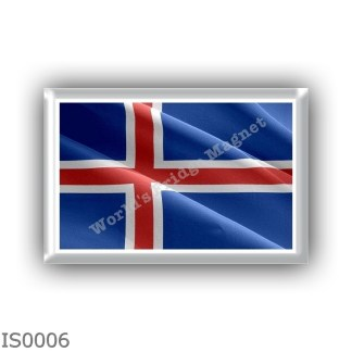 IS0006 Europe - Iceland - flag -waving