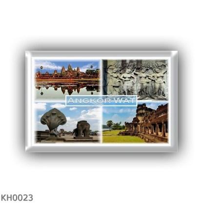 KH0023 Asia - Cambodia - Angkor Wat - Awatdevatasuppeleve - Naga and Guardian Lion