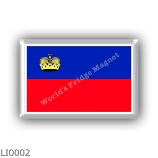 LI0002 - Europe - Liechtenstein - flag
