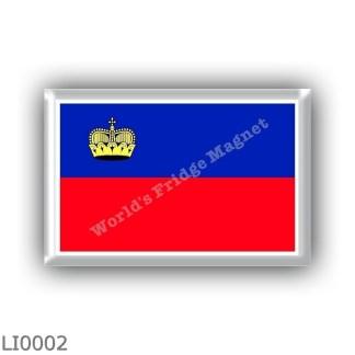 LI0002 - Europe - Liechtenstein - flag
