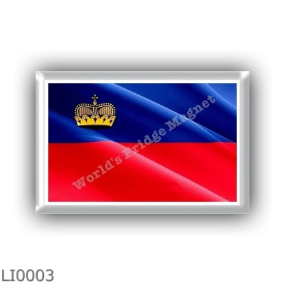 LI0003 - Europe - Liechtenstein - flag - waving
