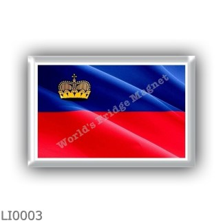 LI0003 - Europe - Liechtenstein - flag - waving