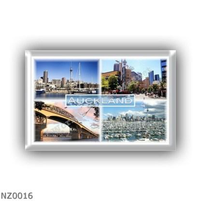 NZ0016 Oceania - New Zealand - Auckland - Westhaven Bay Harbor - The Skycity Village Cinemas - Harbor Bridge - Auckland City