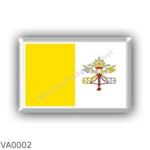 VA0002 - Europe - Vatican City - flag
