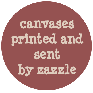 canvases printed and sent by zazzle