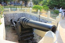Real and fully functioning canon from the period of war