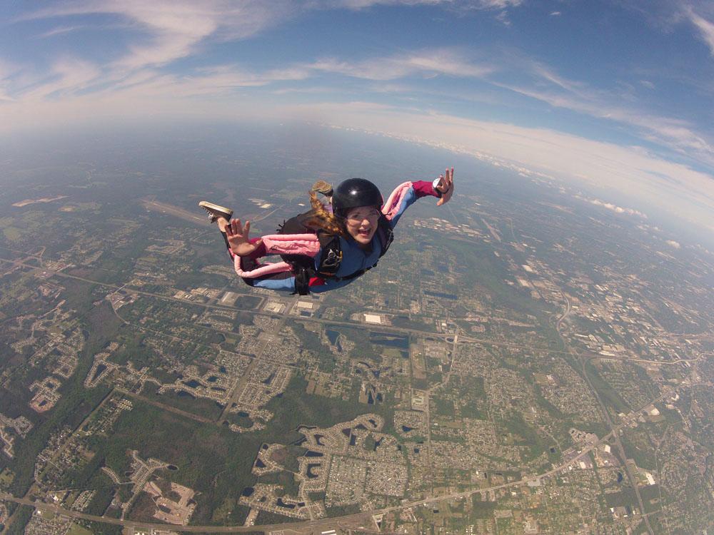 Girl Falling Through The Air Wallpaper Download 1920x1080