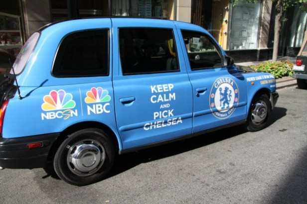 New Photos of London Taxi Cabs in Premier League Team Colors In New York  City [PHOTOS] - World Soccer Talk