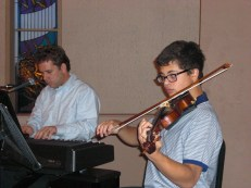 Playing for mass at Saint Thomas the Apostle Catholic Parish, Phoenix