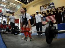 Deadlifting -- age 11