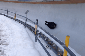 Skeleton on the ice!
