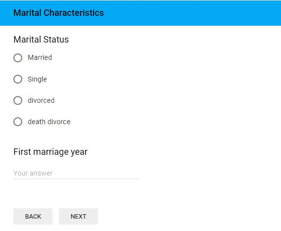 Marital-status of demographic question