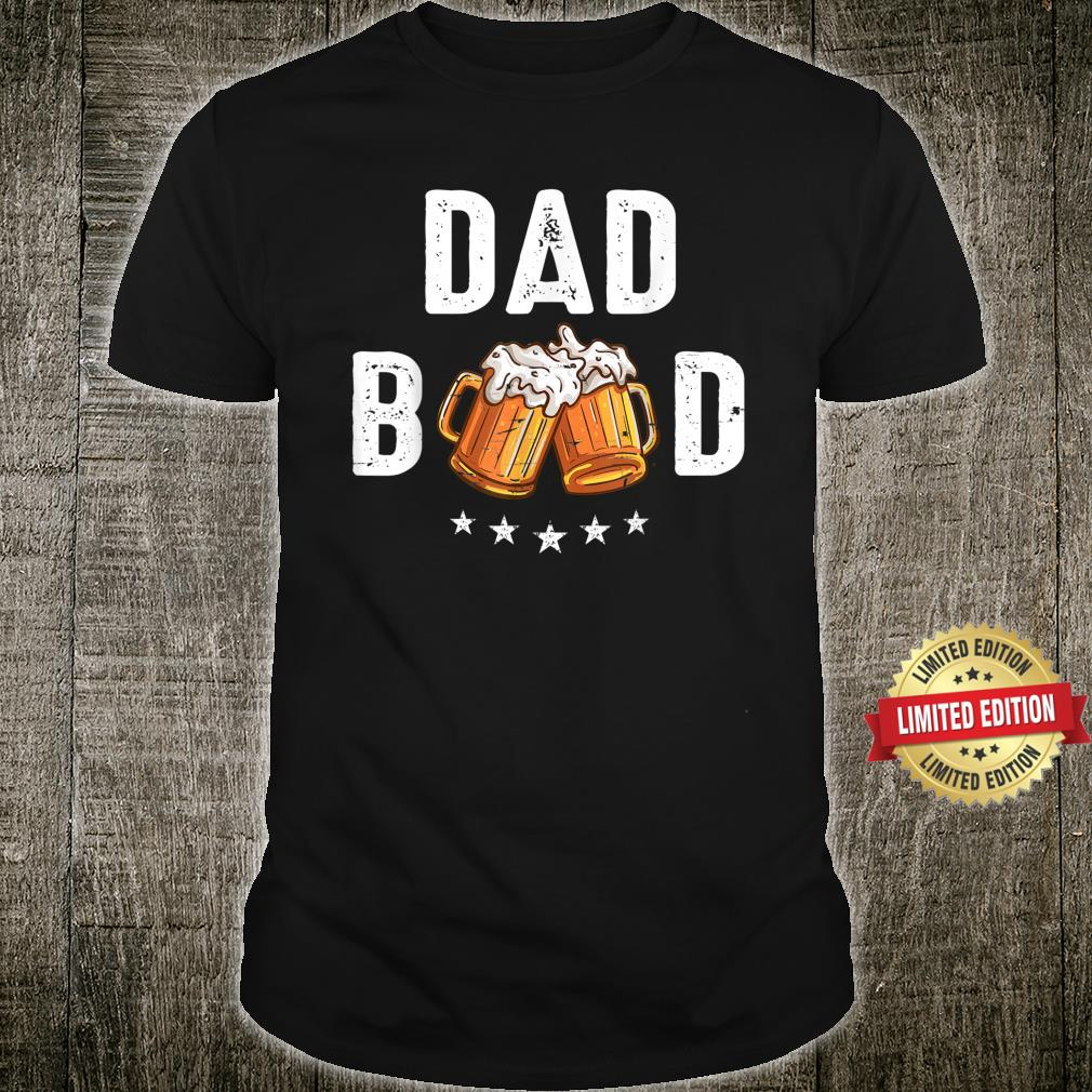 Vintage Dad Bod Beer Retro Fathers Day Shirt