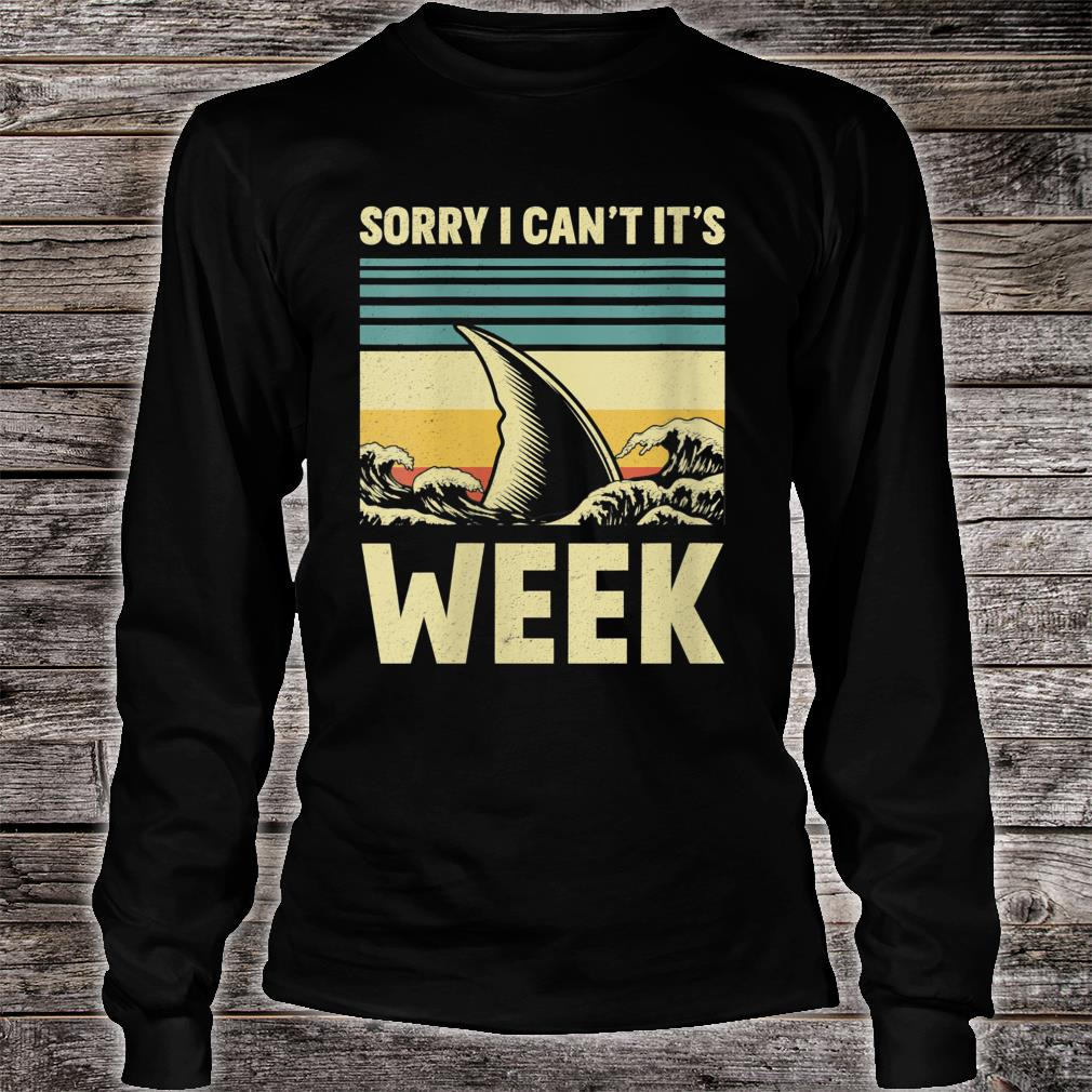 Sorry I Can't it's Week 2020 Shark Fins Wave Shirt long sleeved